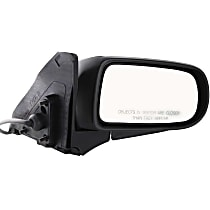 ReplaceXL Power Mirror, Passenger Side, Manual Folding, Non-Heated, Textured Black