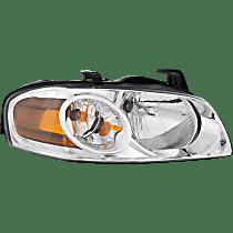 Passenger Side Headlight, With bulb(s) - 04-06 Sentra (Base/S Model)