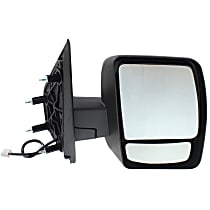 ReplaceXL Power Mirror, Passenger Side, Manual Folding, Non-Heated, w/o Signal, Textured Black