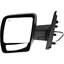 ReplaceXL Power Mirror, Driver Side, SL/SV Models, Manual Folding, Heated, w/o Signal, Chrome