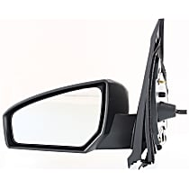 Driver Side Non-Heated Mirror - Manual Remote Glass, Non-folding, Without Signal Light, Without memory, Paintable
