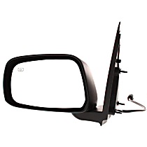ReplaceXL Power Mirror, Driver Side, LE Model, Crew Cab, Manual Folding, Heated, Paintable