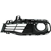 Driver Side Fog Light Trim, Textured Black
