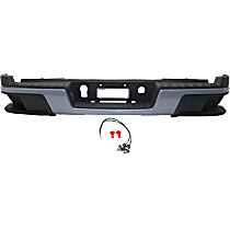 Powdercoated Gray Step Bumper, With mounting bracket(s)