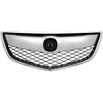 Grille, Chrome Shell w/ Black Insert; Fits 13-15 Acura RDX