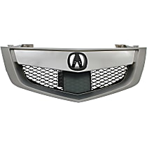 Grille, Silver; Fits 10-13 Acura MDX w/ Advance Pkg Model