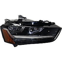 Passenger Side Halogen Headlight, With bulb(s) - Fits B8 Body Code, CAPA CERTIFIED