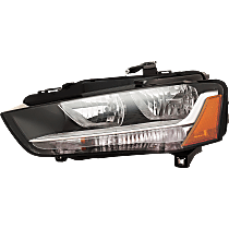 Driver Side Halogen Headlight, With bulb(s) - Fits B8 Body Code, CAPA CERTIFIED