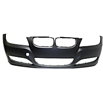 CAPA Certified Front Bumper Cover, Primed, Sedan/Wagon - w/o Park Distance Control & Head Lamp Washer Holes, w/ Fog Light Holes