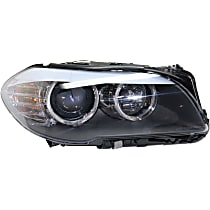 Passenger Side Headlight, With bulb(s) - Sedan Models With Auto Adjust Clear Lens