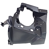 ReplaceXL Fog Light Bracket - REPB110505 - Passenger Side, Textured Black, Plastic, Direct Fit