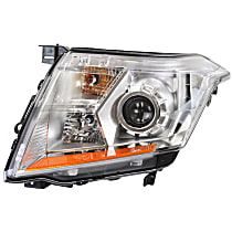 Passenger Side Halogen Headlight, With bulb(s), CAPA CERTIFIED