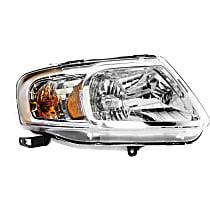 CAPA Certified Passenger Side Headlight, With bulb(s) - Clear Lens