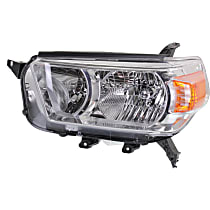 Driver Side Headlight, Without bulb(s) - 10-13 4Runner (Limited/SR5 Model), w/o Trail Package, CAPA CERTIFIED