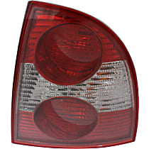 Sedan, Passenger Side Tail Light, With bulb(s) - New Body Style, (Except W8 Model)