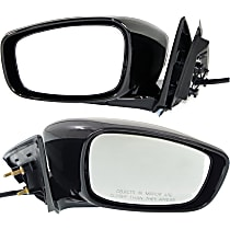 Driver and Passenger Side Heated Mirror - Power Glass, Manual Folding, Without Signal Light, With Memory, Paintable