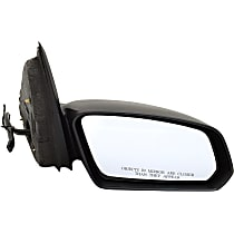 ReplaceXL Power Mirror, Passenger Side, Sedan, Non-Folding, Non-Heated, Textured Black