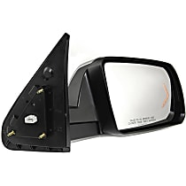 Driver Side Heated Mirror - Power Glass, Power Folding, In-glass Signal Light, With memory, Chrome
