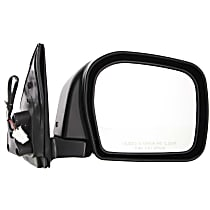 Passenger Side Non-Heated Mirror - Power Glass, Manual Folding, Without memory, Paintable