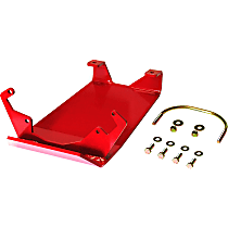 RS6252 Differential Skid Plate, Red, Direct Fit