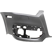 Bumper Cover - Front, Passenger Side, 1 Piece, Primed, For Models Without Parking Aid Sensors and Parallel Park Assist