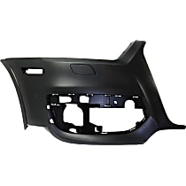 Bumper Cover - Front, Passenger Side, 1 Piece, Primed, For Models Without Parking Aid Sensors and Parallel Park Assist, CAPA Certified