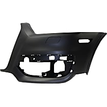 Bumper Cover - Front, Driver Side, 1 Piece, Primed, For Models Without Parking Aid Sensors and Parallel Park Assist, CAPA Certified