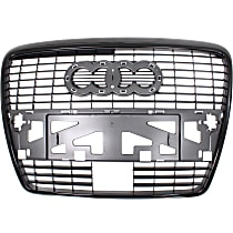 Grille Assembly - Painted Silver Shell with Black Insert