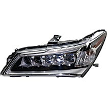 Driver Side LED Headlight, With bulb(s)