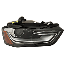 Passenger Side HID/Xenon Headlight, Without HID bulb and ballast; With turn signal bulb
