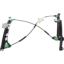 Front, Driver Side Power Window Regulator, Without Motor, Convertible