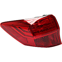 Driver Side, Outer Tail Light, With bulb(s) - Red Lens, CAPA CERTIFIED