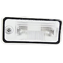 License Plate Light - Plastic, Direct Fit, Sold individually Rear, Driver Side