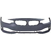 Front Bumper Cover, Primed - w/o Park Sensor & Headlight Washer Holes, w/o M Sport Pkg.