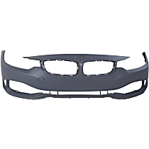 Front Bumper Cover, Primed - w/o Park Sensor & Headlight Washer Holes, w/o M Sport Pkg.