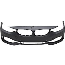 Front Bumper Cover, Primed - w/ Park Sensor Holes & IPAS, w/o Headlight Washer Holes & Cam, w/o M Sport Pkg.