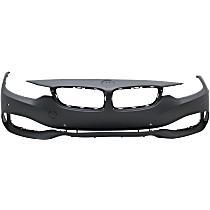 Front Bumper Cover, Primed - w/ Park Sensor Holes & Cam, w/o IPAS, w/o Headlight Washer Holes & M Sport Pkg.