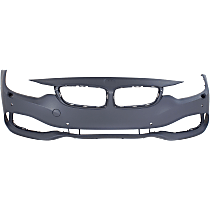 Front Bumper Cover, Primed - w/ Park Sensor & Headlight Washer Holes, w/o IPAS & M Sport Pkg.
