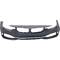 Front Bumper Cover, Primed - w/ Park Sensor & Headlight Washer Holes, w/ IPAS, w/o Cam & M Sport Pkg.