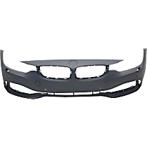 Front Bumper Cover, Primed - w/ Park Sensor & Headlight Washer Holes, w/ IPAS & Cam, w/o M Sport Pkg.