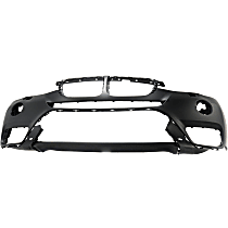 Front Bumper Cover, Primed - Fits: Models With Park Assistant, Headlights Washer, Without LED Fog Lights, Surround View, M Aerodynamics Package