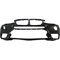 Front Bumper Cover, Primed - w/ Fog Light Holes & IPAS, w/ Surround View, w/o M Pkg., CAPA CERTIFIED