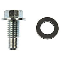 090-034.1 Oil Drain Plug - Natural, Steel, Pilot point, Direct Fit, Sold individually