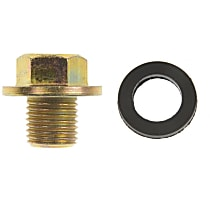 090-038.1 Oil Drain Plug - Brass, Steel, Standard, Direct Fit, Sold individually