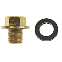 Dorman 090-038.1 Oil Drain Plug - Brass, Steel, Standard, Direct Fit, Sold individually