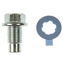 Dorman 090-049.1 Oil Drain Plug - Natural, Steel, Pilot point, Direct Fit, Sold individually