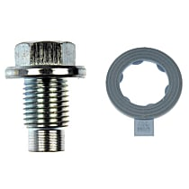 Oil Drain Plug - Natural, Steel, Pilot point, Direct Fit, Sold individually
