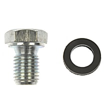 Oil Drain Plug - Natural, Steel, Standard, Direct Fit, Sold individually