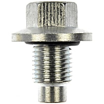 090-161.1 Oil Drain Plug - Chrome, Steel, Pilot point, Direct Fit, Sold individually