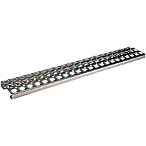 157-5505 Side Steps - Natural, Aluminum, Direct Fit, Sold individually